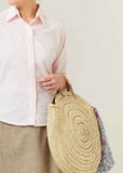 Bohemia Round Straw Bag - Natural