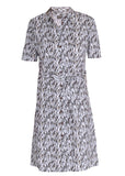 Carmel Pure Cotton SS Woven Velcro Shirt Dress - Animal