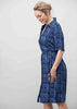 Carmel Pure Viscose SS Woven Paisley Velcro Shirt Dress - Shibori Navy: VAT Exempt