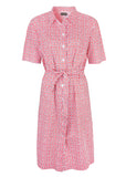 Carmel Pure Cotton SS Woven Floral Velcro Shirt Dress - Red: VAT Exempt