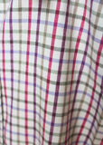 Charlie Pure Cotton Check Long Sleeve Velcro Shirt - Berry Red: VAT Exempt