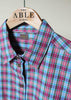 Charlie Woven Check Shirt - Dark Plum: VAT Exempt
