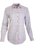 Charlie Pure Cotton Check Long Sleeve Velcro Shirt - Mustard