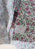 Charlie Pure Cotton Floral Print Long Sleeve Velcro Shirt - Plum/Green: VAT Exempt