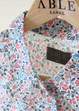 Charlie Woven Floral Shirt - Royal Blue