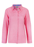Charlie Pure Cotton Gingham Long Sleeve Velcro Shirt - Paradise Pink