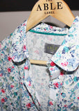 Charlie Woven Floral Shirt - Deep Teal: VAT Exempt