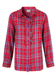 Charlie Pure Cotton Check Long Sleeve Shirt - Dragon Red
