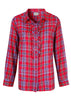 Charlie Pure Cotton Check Long Sleeve Shirt - Dragon Red: VAT Exempt