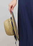 Clare Straw Sun Hat - Navy