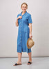 Daisy Denim Short Sleeve Velcro Shirt Dress - Denim: VAT Exempt