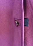 Diana Velcro Polar Fleece Dressing Gown - Plum Purple