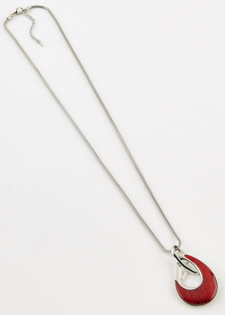 Elvie Long Necklace - Dragon Red