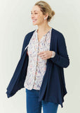 Molly Jersey Waterfall Cardigan - Shibori Navy: VAT Exempt