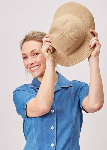Filipa Foldable Sun Hat - Camel