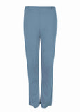 Flavia Ponte Straight Leg Pull On Trousers - Marl Blue