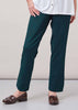 Flavia Ponte Straight Leg Pull On Trousers - Forest