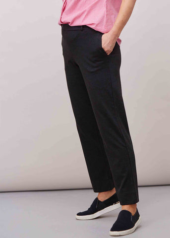 Flavia Ponte Straight Leg Pull On Trousers - Charcoal