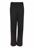 Flora Ponte Wide Leg Pull On Trousers - Charcoal