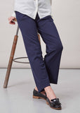 Flora Ponte Wide Leg Pull On Trousers - Midnight Navy