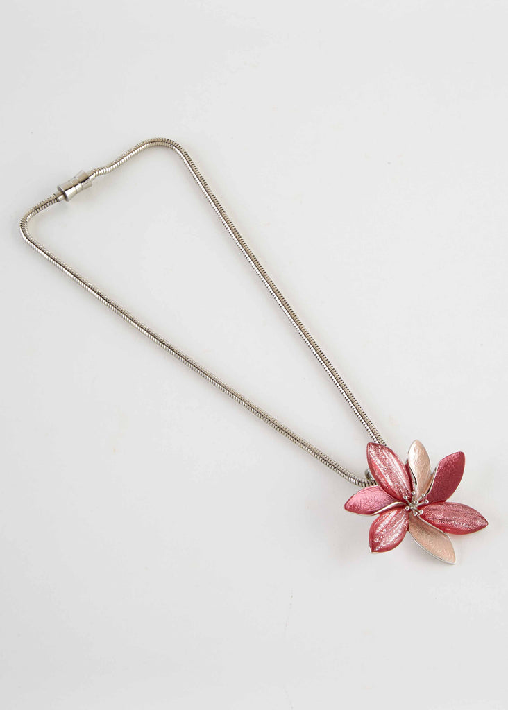 Flower Magnetic Necklace - Paradise Pink