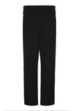 Frankie Straight Leg Jersey Pull On Trousers - Black (Short Length)