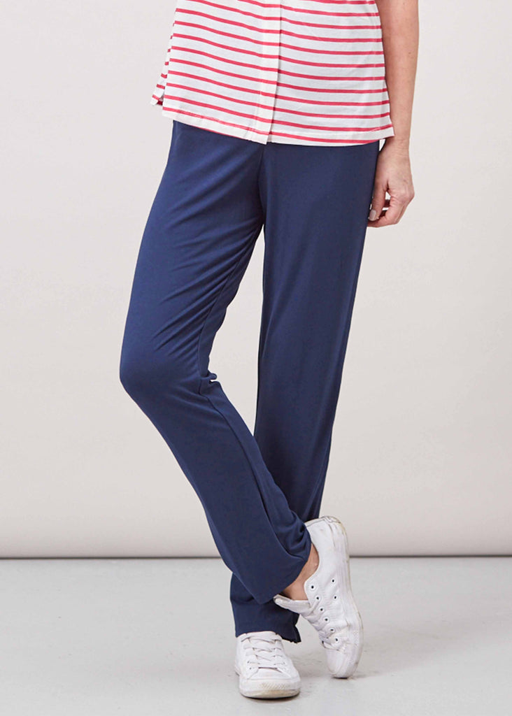 Frankie Straight Leg Trousers - Shibori Navy (Regular Length): VAT Exempt