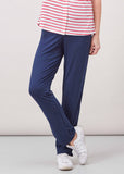 Frankie Straight Leg Jersey Pull On Trousers - Shibori Navy (Short Length)