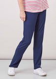 Frankie Straight Leg Jersey Pull On Trousers - Shibori Navy (Regular Length)