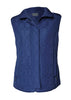 Harriet Diamond Quilted Gilet - Shibori Navy