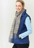 Harriet Diamond Quilted Velcro Gilet - Shibori Navy
