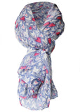 Heart Print Scarf - Seaspray