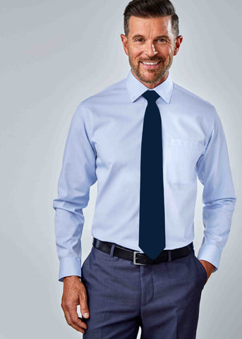 Hugo Classic Fit Oxford Non-Iron Velcro Shirt - Blue: VAT Exempt
