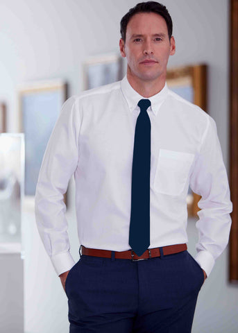Hugo Classic Fit Cotton Rich Non-Iron Velcro Shirt - White