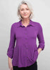 Imogen Jersey Shirt - Plum Purple