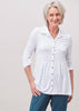 Imogen Jersey Long Sleeve Velcro Shirt - Blossom White: VAT Exempt