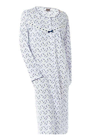 Janet Jersey Nightdress - Med Blue