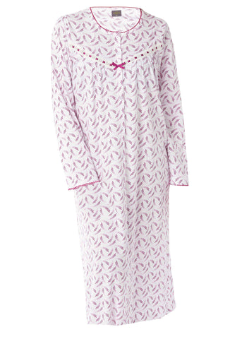 Janet Jersey Nightdress - Plum Purple