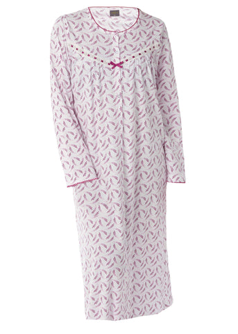 Janet Jersey Nightdress - Plum Purple: VAT Exempt
