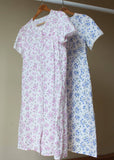 Jenny Floral Front Opening Short Sleeve Velcro Nightdress - Paradise Pink