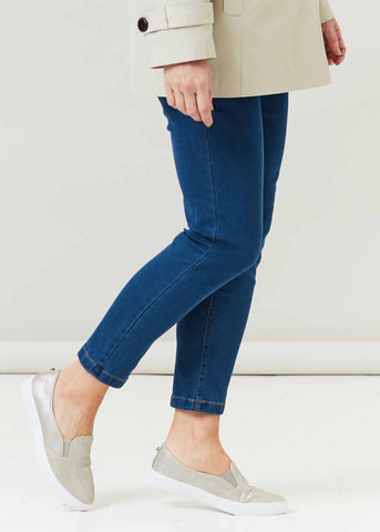 Kerry Super Stretch Velcro Fly Jean - Denim