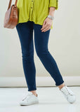 Kirsty Super Stretch Velcro Fly Jean - Dark Denim