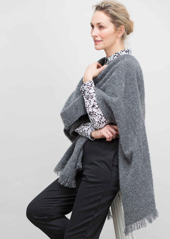 Laura Luxury Wrap - Charcoal