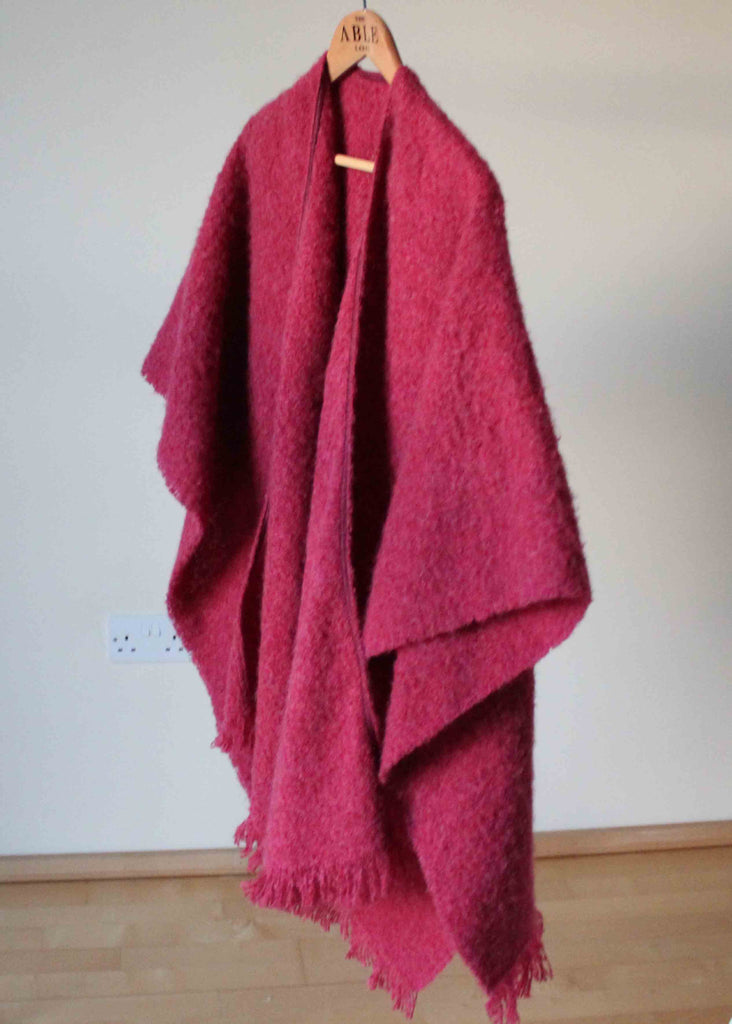 Laura Knitted Wrap - Paradise Pink