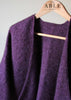 Laura Knitted Wrap - Plum Purple