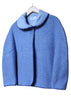 Lauren Plain Luxury Cape - Med Blue
