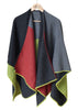 Loredana Knitted Wrap - Lime/Red
