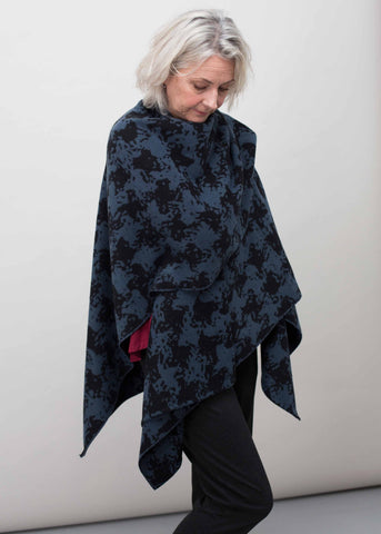Luna Knitted Wrap - Midnight