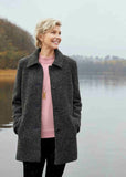 Madeline Wool Blend Velcro Coat - Charcoal
