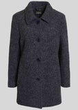 Madeline Wool Blend Velcro Coat - Charcoal: VAT Exempt